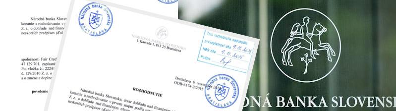 Licencia Fajn Pôžička